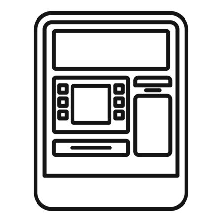 Insert atm card icon, outline style