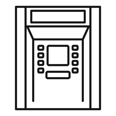 Atm payment icon, outline style