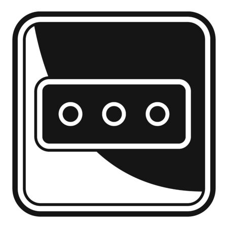 Power socket icon, simple style