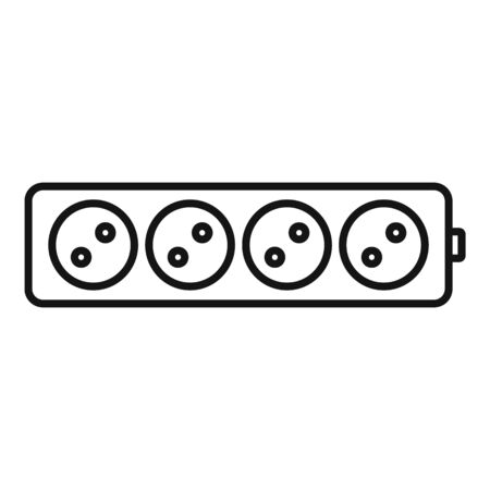 Electric extension cord icon, outline style 向量圖像