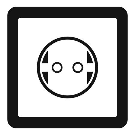 European power socket icon, simple style 向量圖像