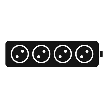 Electric extension cord icon, simple style