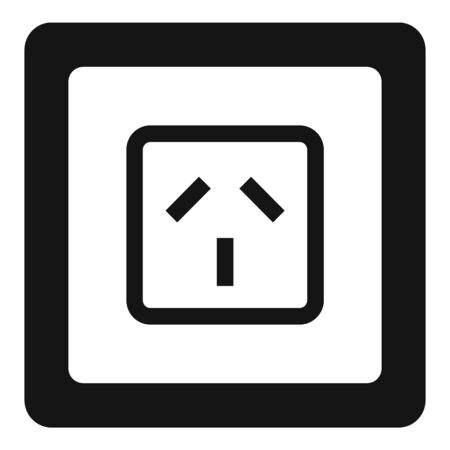 Type i power socket icon, simple style