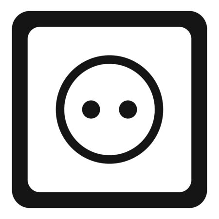 Classic power socket icon, simple style