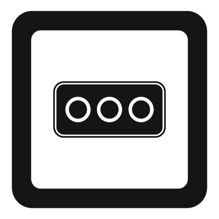 Type l power socket icon, simple style