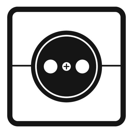 Home power socket icon, simple style