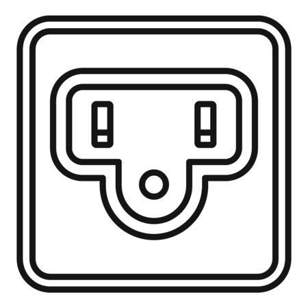 Type b power socket icon, outline style