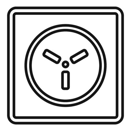 Type h power socket icon, outline style