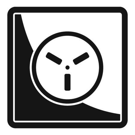 Type h power socket icon, simple style