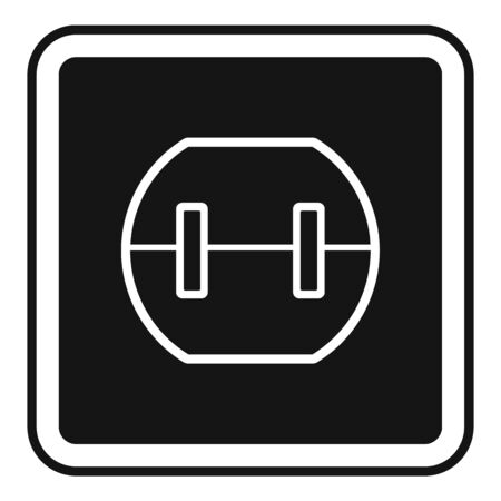 Element power socket icon, simple style