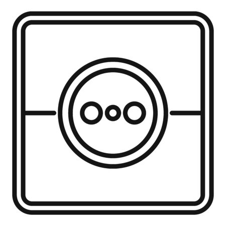 Home power socket icon, outline style 向量圖像