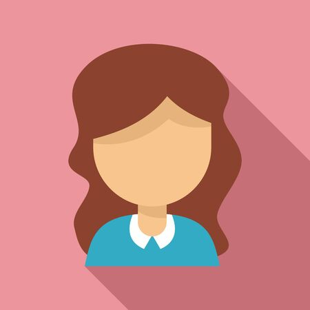 Woman tutor icon. Flat illustration of woman tutor vector icon for web design Çizim