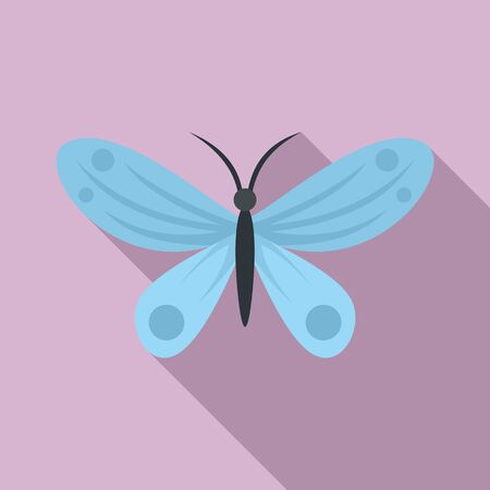 Island butterfly icon. Flat illustration of island butterfly vector icon for web design