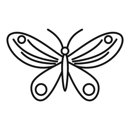 Island butterfly icon, outline style