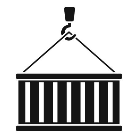 Port cargo container icon, simple style Ilustracja
