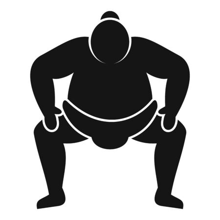 Japanese sumo icon. Simple illustration of Japanese sumo vector icon for web design isolated on white background Illustration