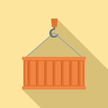 Port cargo container icon. Flat illustration of port cargo container vector icon for web design