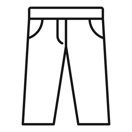 Trendy jeans icon. Outline trendy jeans vector icon for web design isolated on white background