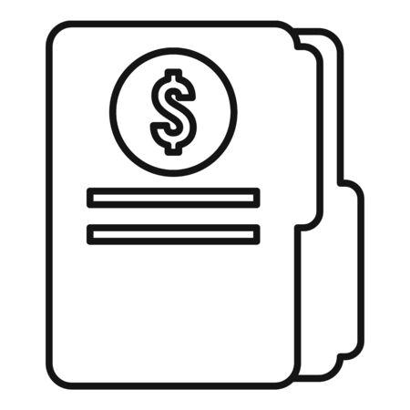 Finance folder icon, outline style