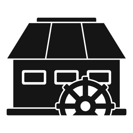 Energy water mill icon, simple style