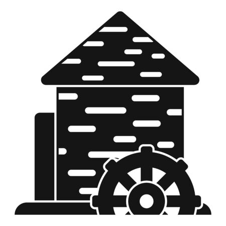 Construction water mill icon, simple style