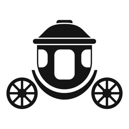 Chariot brougham icon, simple style