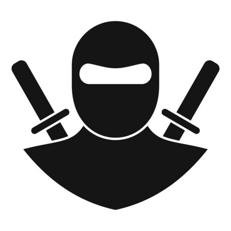 Karate ninja icon, simple style