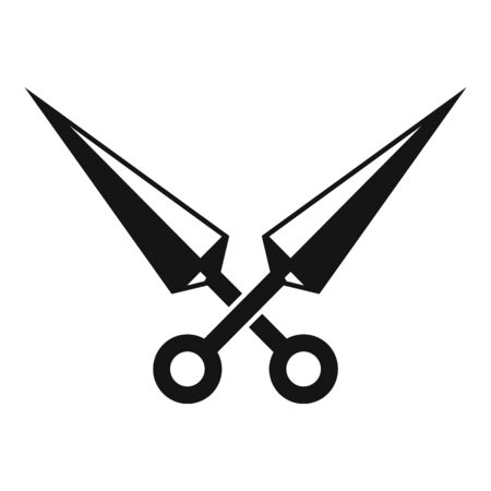 Ninja blades icon, simple style