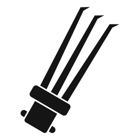 Ninja spikes icon, simple style