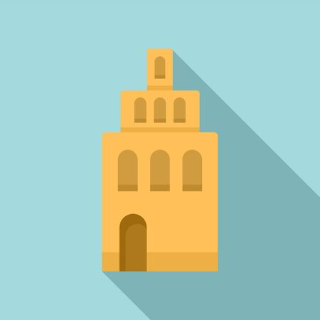 Riga building tower icon. Flat illustration of Riga building tower vector icon for web design