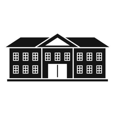 Oxford university icon, simple style Vettoriali