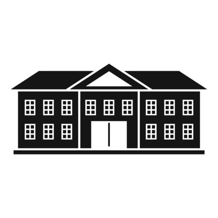 Oxford university icon, simple style Vecteurs