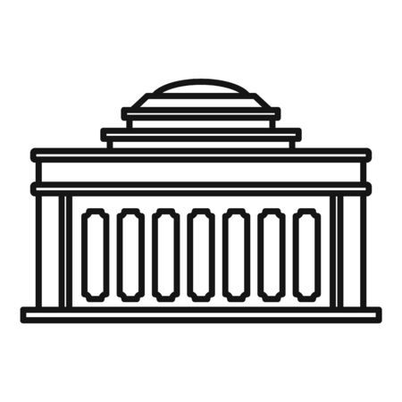 Academy building icon, outline style