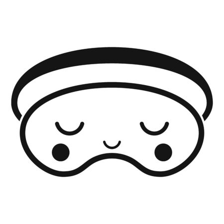 Rest sleeping mask icon, simple style