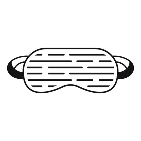 Soft sleeping mask icon, simple style