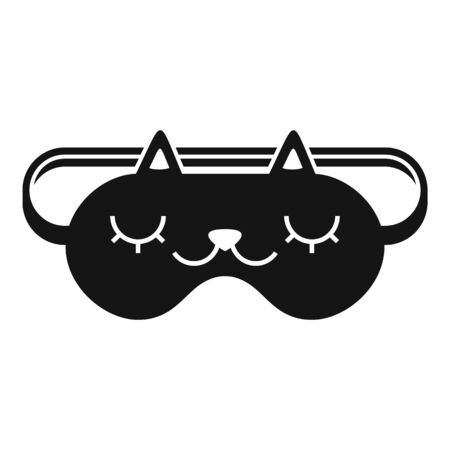 Glasses sleeping mask icon, simple style  イラスト・ベクター素材