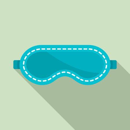Travel sleeping mask icon, flat style  イラスト・ベクター素材
