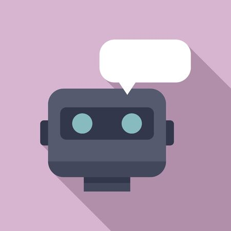 Chatbot icon. Flat illustration of chatbot vector icon for web design