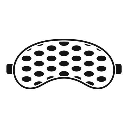 Eye sleeping mask icon, simple style  イラスト・ベクター素材
