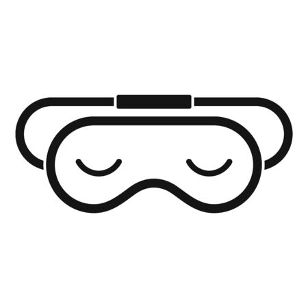 Slumber sleeping mask icon, simple style  イラスト・ベクター素材