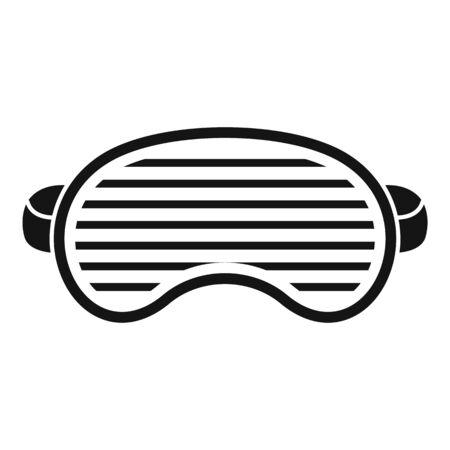 Fashion sleeping mask icon, simple style  イラスト・ベクター素材