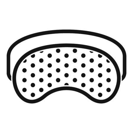 Insomnia sleeping mask icon, simple style