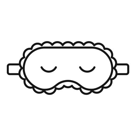 Sleeping mask icon, outline style 向量圖像