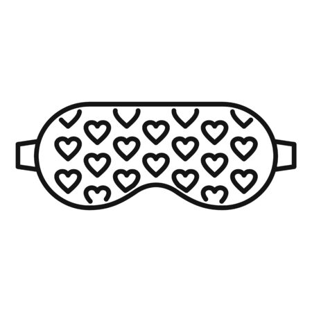 Bedtime sleeping mask icon, outline style