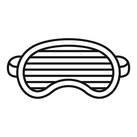 Fashion sleeping mask icon. Outline fashion sleeping mask vector icon for web design isolated on white background