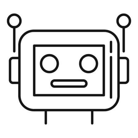 Cyber robot icon, outline style
