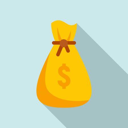 Gamification money bag icon. Flat illustration of gamification money bag vector icon for web design