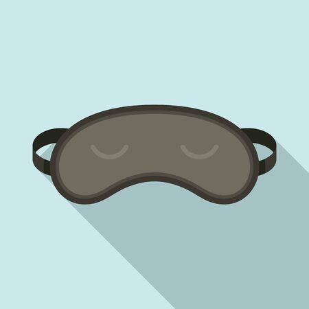 Sleep mask icon. Flat illustration of sleep mask vector icon for web design 向量圖像