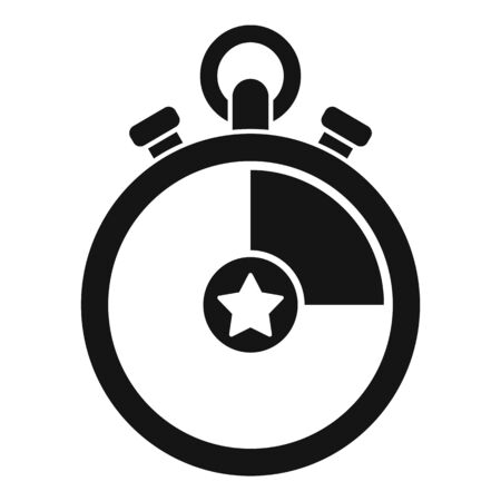 Video game stopwatch icon. Simple illustration of video game stopwatch vector icon for web design isolated on white background