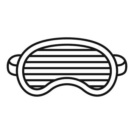 Fashion sleeping mask icon, outline style